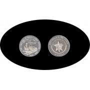 Cuba 10 pesos 1988 1 onza 140º  Aniv. del 1er Ferrocarril Español plata silver