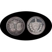 Cuba 50 pesos 1991 5 onzas V Centenario Pinzón plata silver
