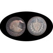 Cuba 50 pesos 1991 5 onzas Hatuey plata silver