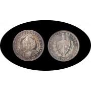 Cuba 50 pesos 1990 5 onzas V Centenario Colon Columbus plata silver