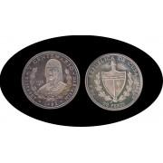 Cuba 50 pesos 1990 5 onzas V Centenario Elisabet plata silver