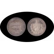Cuba 50 pesos 1990 V 5 onzas Centenario Estadio Olímpico Barcelona plata silver