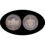 Cuba 50 pesos 1991 5 onzas V Centenario Puerta de Alcalá Madrid plata silver
