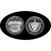 Cuba 50 pesos 1992 5 onzas  Estadio Olímpico de Barcelona plata silver