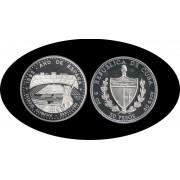 Cuba 50 pesos 1991 5 onzas Estadio Olímpico de Barcelona plata silver