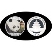 China onza de plata 2018 Oso Panda Sylver Ag Color