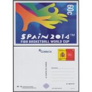 España Tarjetas del Correo y de Iniciativa Privada 98 2014 Escudo