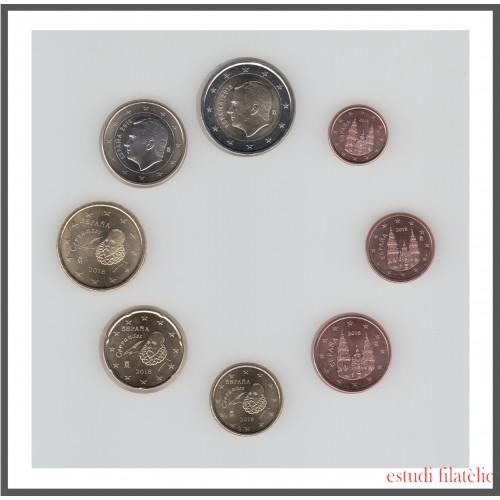España 2018 Emisión monedas Sistema monetario euro € Tira