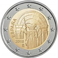 España 2018 2 € euros conmemorativos Santiago de Compostela