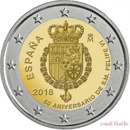 España 2018 2 € euros conmemorativos  50 Av. Felipe VI