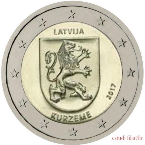Letonia 2017 2 € euros conmemorativos  Región de Kurzeme