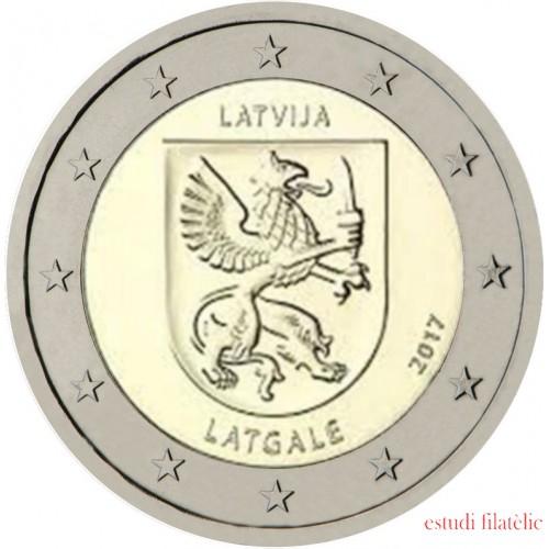 Letonia 2017 2 € euros conmemorativos  Región de Latgale
