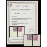 España Spain 1083A/83B 1950 General Franco Castillo de Mota Viaje Canarias MNH CEM