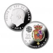 España 2018 30 Euros de plata Av. Felipe VI Color
