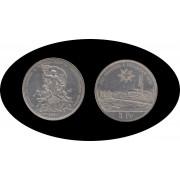 Suiza 5 Francos 1881 Plata Silver Entrada de Fribourg &  Confederación Suiza
