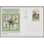 Guinea Ecuatorial Entero Postal 5 Nº 0000 1998 Mundial fútbol Francia 98 Muestra