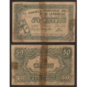 Billete local 1937 Ajuntament de Pi de Llobregat  50 Cts.