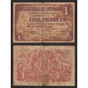 Billete local 1937 Ajuntament de Sabadell  1 Peseta