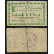 Billete local 1937  Consejo Municipal de Urrea de Gaén (Teruel) 1 Peseta