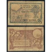 Billete Local  1937   Ajuntament de Vilanova i La Geltrú  25 Cts.