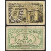 Billete local 1937  Ajuntament de D´el Vendrell 25 Cts