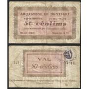 Billete local 1937 Ajuntament del Montseny 50 Cts.