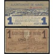 Billete local 1937 Ajuntament de Navàs 1 Peseta.