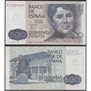 Epaña Billete 500 Pesetas  23 10 1979  Serie 9A  SC