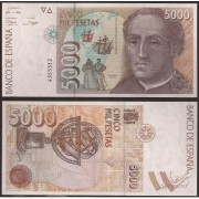 España Billete 5000 Pesetas 12 10 1992 Sin serie SC