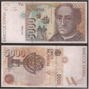 España Billete 5000 Pesetas 12 10 1992 Sin serie EBC