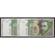 España Billete Pareja correlativa 1000 Pesetas  12 10 1992  Serie 6L  SC