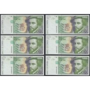 España Billete 1000 Pesetas  12 10 1992  Serie 5D  6 Correlativos SC