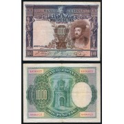 España Billete 1000 Pesetas 1 7 1925  Sin Serie  MBC-