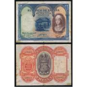 España Billete 500 Pesetas  24 7 1927  Sin Serie  BC