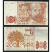 España Billete 200 Pesetas 16 septiembre 1980  Serie 9A  MBC