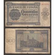 España Billete 500 Pesetas  21 11 1936  Serie B  BC
