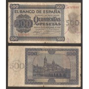 España Billete 500 Pesetas  21 11 1936  Serie A  BC