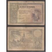 España Billete 500 Pesetas  21 10 1940  Sin Serie   BC