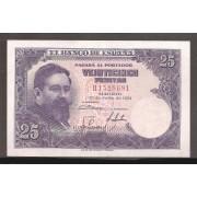 España Billete 25 Pesetas  22 julio 1954   SC