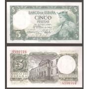 España Billete 5 pesetas  22 julio 1954  Sin Serie  SC