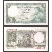 España Billete 5 pesetas  22 julio  1954  Serie A   SC