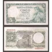 España Billete 5 pesetas  22 julio 1954  Sin Serie  EBC