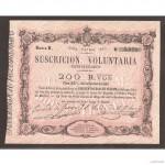 Billete 200 Reales de Vellón 1870 Tour de Peilz  SC-