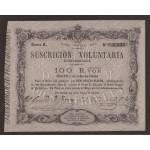 Billete 100 Reales de Vellón 1870 Tour de Peilz  EBC+