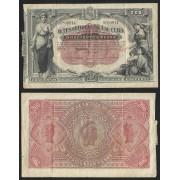 Billete de Cuba 200 Pesos 1890  MBC (Punto de aguja)