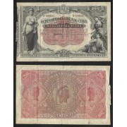 Billete de Cuba 200 Pesos 1890  MBC