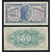España Billete 50 Céntimos 1937  Serie B  República Española  EBC