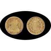 España Spain 8 escudos 1786 Carlos III Mejico FM ceca invertida