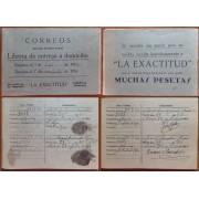 España Spain Servicio Giro Postal Libreta de entrega a Domicilio