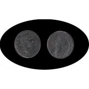 Moneda romana Follis Augusto Emperador romano desde 27 a.C. hasta 14 d.C.